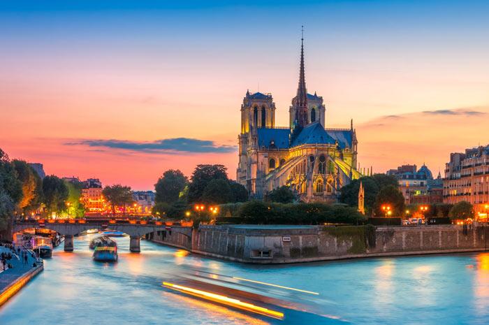 paris-france-notre-dame-sunset